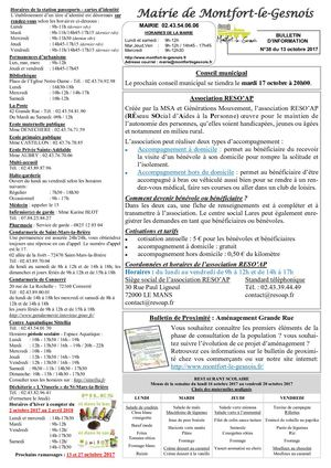 Bulletin Dinformation N°38 Du 13 10 2017