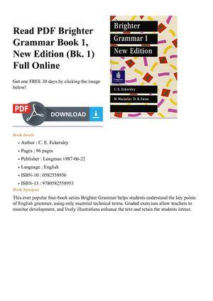 Brighter Grammar Book 1 Pdf