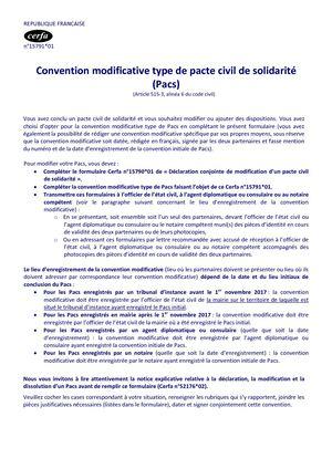 Calameo Convention Modificative Type Pacs Cerfa 15791