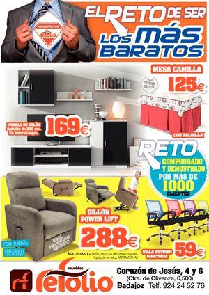Calam o muebles refolio rebajas del mueble en badajoz for Super chollo muebles