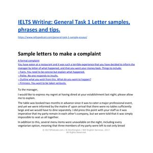 Calameo Ielts Writing General Task 1 Sample Letters And Phrases