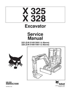 Calaméo - BOBCAT 325 COMPACT EXCAVATOR Service Repair Manual
