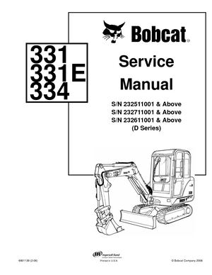 calam o bobcat 331 compact excavator service repair manual sn rh calameo com bobcat 331 mini excavator wiring diagram Bobcat 873 Parts Diagram