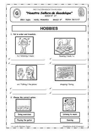 Hobbies 5to