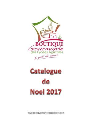 Catalogue Noel 2017