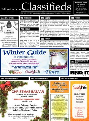 Classifieds November 7, 2017