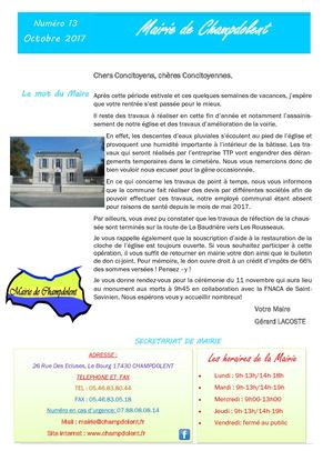Bulletin Octobre 2017
