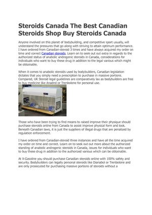 Steroids Canada The Best Canadian Steroids Shop Buy Steroids Canada
