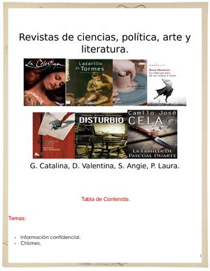 Revistas De Ciencias