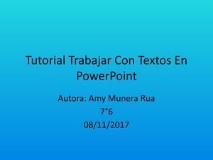 Tutorial Trabajar Con Textos En Power Point