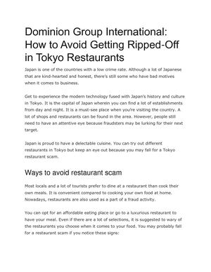 How To Avoid Getting Ripped Off In Tokyo Restaurants