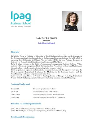 Dalla Pozza Ilaria Cv Website