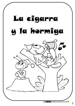 Calaméo Moraleja La Cigarra Y La Hormiga