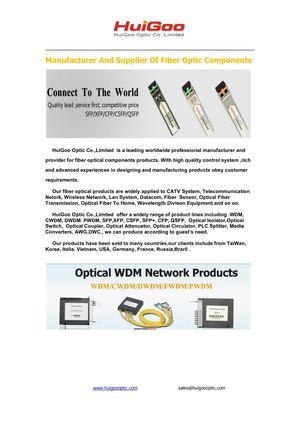 Calaméo - Huigoo's manufacturer of optical fiber products,induling