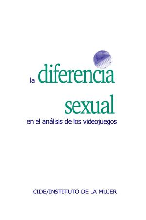 reputable site 66938 3eff7 Diferencia Sexual Analisis Videojuegos