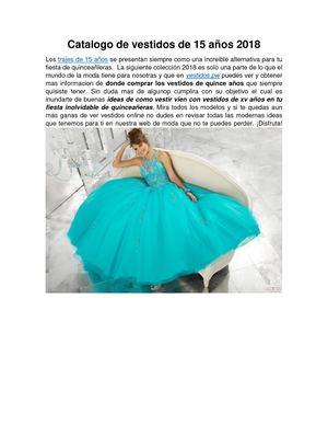 Calaméo Catalogo De Vestidos De 15 Años 2018 Trajes De