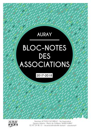 Auray Bloc-Notes 2017-2018