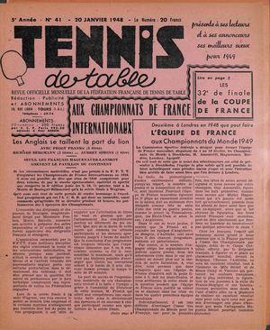 1948 01 41 TENNIS DE TABLE