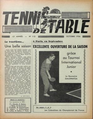 Calameo 1956 10 115 Tennis De Table