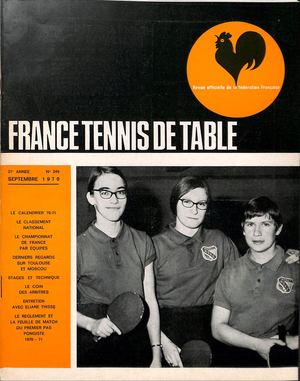Calam o 1970 09 249 france tennis de table - Classement individuel tennis de table ...