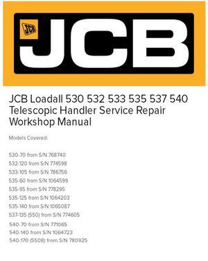 calam o jcb 530 telescopic handler service repair workshop manual rh calameo com JCB Forklift Operators Manual JCB 532 Specs