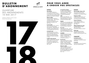 Bulletin Abonnement Web