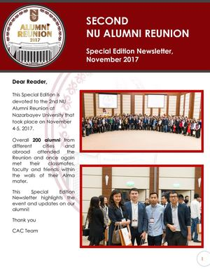 2nd Alumni Reunion Special Edition Newsletter