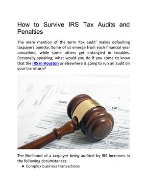 How To Survive Irs Tax Audits And Penalties
