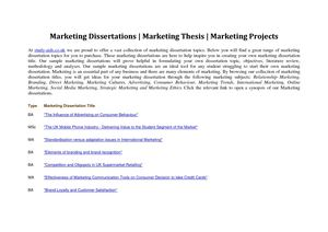 marketing dissertations
