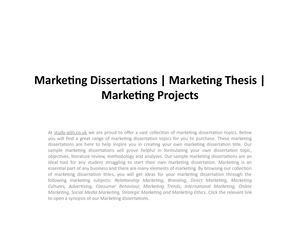 marketing related thesis topics