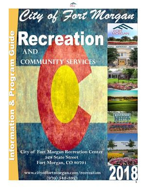 2018 City of Fort Morgan Recreation Department
