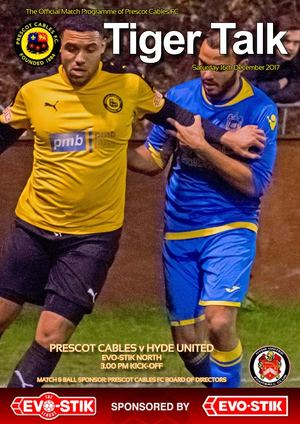 Prescot Cables v Hyde United, 16/12/17