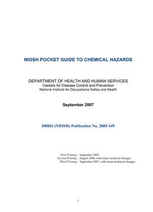calam o niosh pocket guide to chemical hazards rh calameo com Pocket Guide to American Houses Pocket Dot Placard Guide