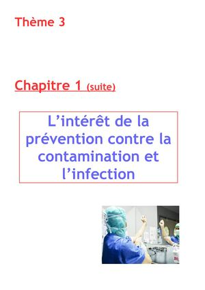T3C1 Prévention contamination et infection 3è