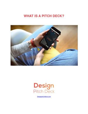 What Is A Pitch Deck Designpitchdeck Com