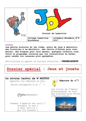 JDL N°8 NOV-DEC 2017