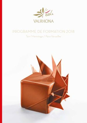 Valrhona Catalogue Stages 2018
