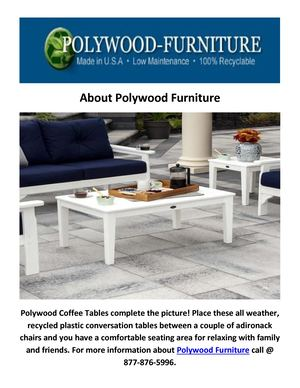 Buy Polywood Coffee Tables & Conversation Tables at Polywood Furniture