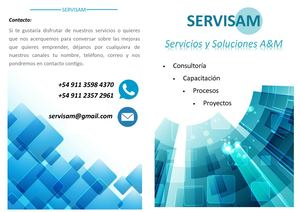 Brochure Am Services Servisam