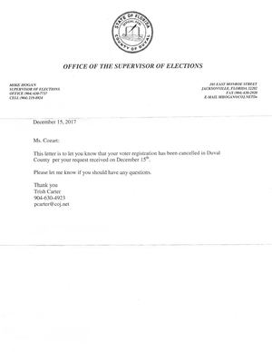 SF-181 Mailed to Voter Registration for AziMa Ma'at Divine