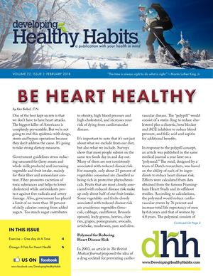 Developing Healthy Habits - February 2018