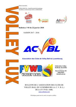 Volley Lux N 05 Du 22 01 2018