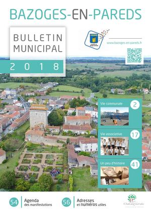 Bulletin municipal 2018 - Bazoges en Pareds
