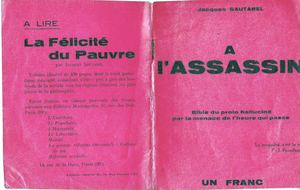 « A l'assassin », par Jacques Sautarel