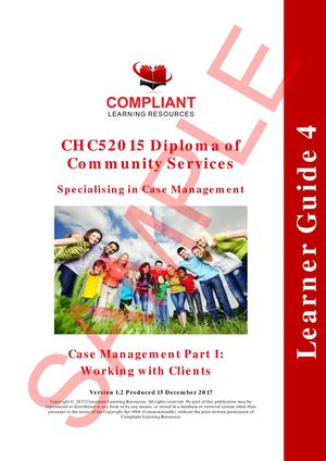 SAMPLE CHC52015 Subject 4 LEARNER GUIDE F V1 2