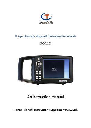Calamo Instructions For Veterinary B Ultrasound Tc 210