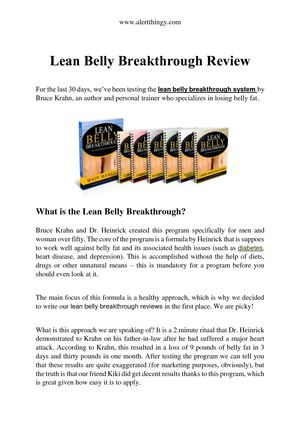 Calameo Lean Belly Breakthrough Review