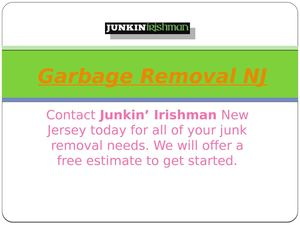 Garbage Removal Nj