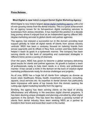 Dental Digital Marketing Agency