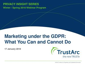 Marketing under the GDPR: What You Can and Cannot Do
